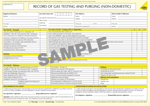 Gas Safety Certificates 3